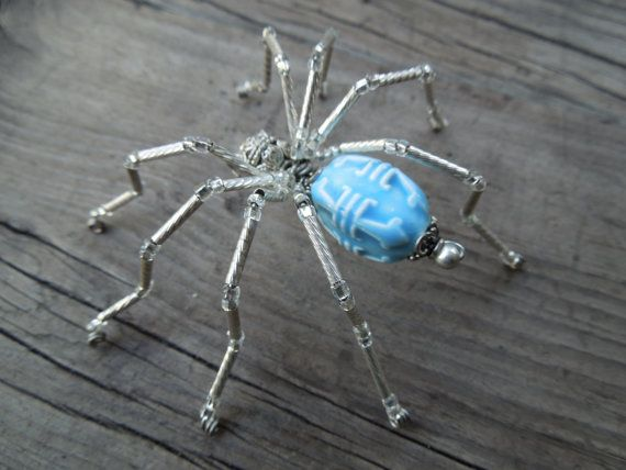 spider figurine hand beaded spider decoration legend of the christmas spider gift awesome beaded holiday ornament 1 spider - Spider Decorations