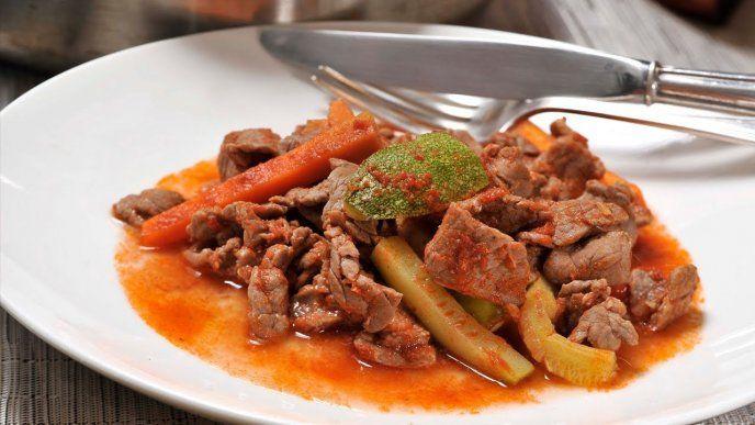 Fajitas con salsa de chipotle