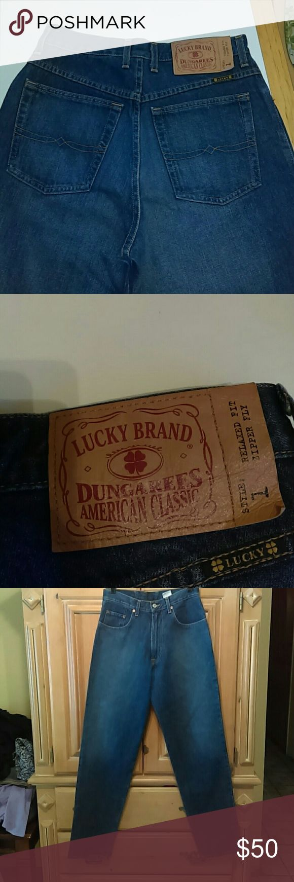 Luck brand dungarees jeans nwt 29X 33 Relaxed fit sipper fly style 1 Lucky Brand Jeans Relaxed