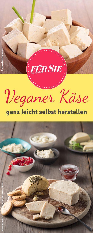 Lest hier, wie Ihr die verschiedensten Käsesorten ganz einfach und ganz vegan nachmachen könnt.