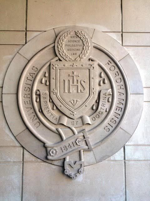 Fordham Seal at Lincoln Center