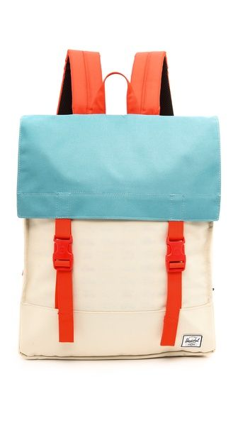 I love the colors on this pack - Survey Backpack - (Bone/Synchro Red) by Herschel Supply Co. | $62.96