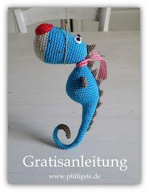 Genießt doch auch das Video!!!       Die Anleitung findet Ihr bei www.pfiffigste.de .     Habe lange überlegt, ob ein Seepferdchen auch ...