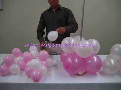 How to make balloon Greek Column- using a hand pump. (Video is not in english but is visually self-explanatory.)