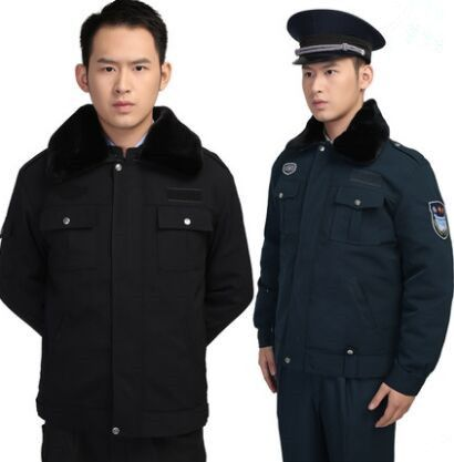 black winter security uniform clothing chinese security officer uniform black uniform security guard uniform