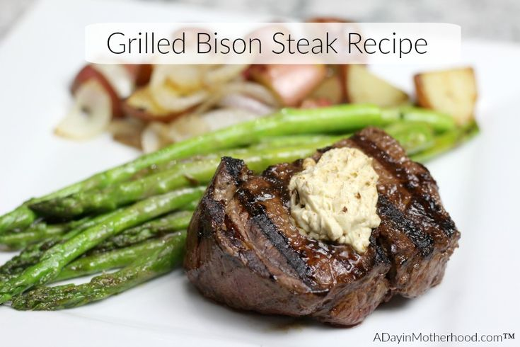 Grilled Bison Steak is easy to make and flavor with KC Mastepiece Dry Mix at Kroger. Pair it with Asparagus and potatoes for the ultimate flavor of a family dinner! #MyKCMasterpiece ad @Kroger