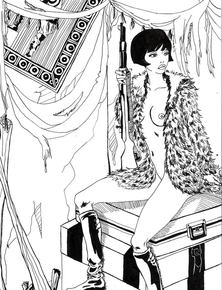 Valentina Roselli de Guido Crepax como soviet hecha por mi :)