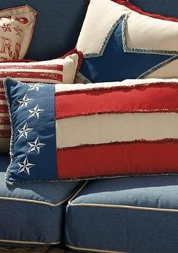 Add a patriotic touch to your outdoor space this summer with the Star-spangled Banner Outdoor Lumbar Pillow; just in time for the Fourth of July!