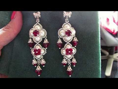 """Beading4perfectionists : """"The Queens Ruby's"""" ;-) Earrings beading tutorial"""