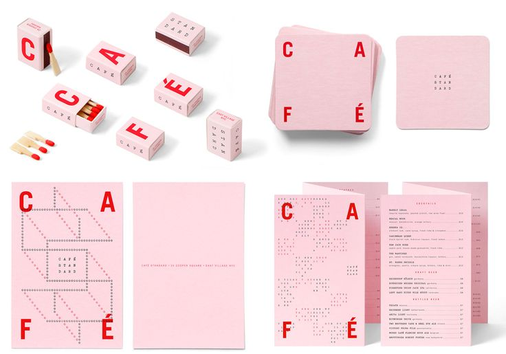 Café Standard by Triboro - Pink & Red Color Combo #design #branding