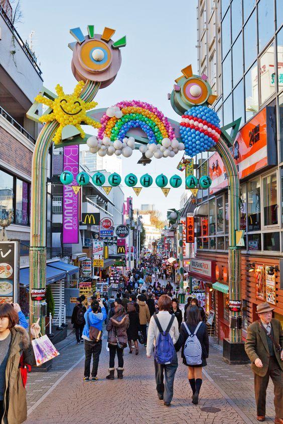 Takeshita Street in Harajuku, Japan
