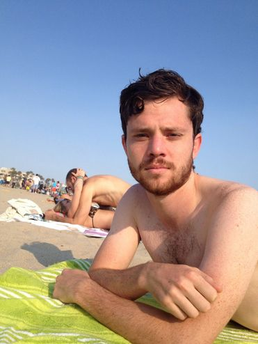 Just at the beach. | This Guy Takes Selfies With Couples Making Out In Public And It's Triumphant