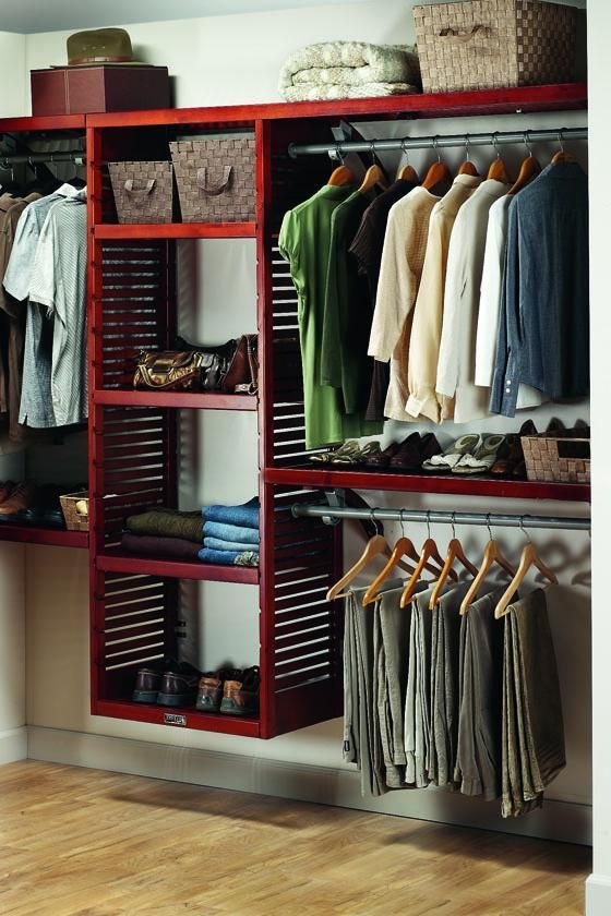 I think this is the John Louis closet system I want.  You can also get doors for it!