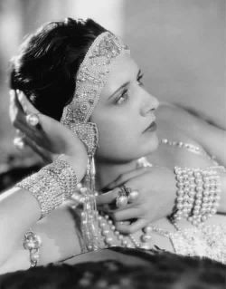 Actress Kay Francis Wearing Pearl Jewelry