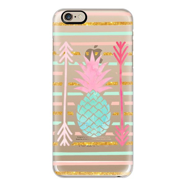 iPhone 6 Plus/6/5/5s/5c Case - Pineapple pink mint stripes arrows... (€35) ❤ liked on Polyvore featuring accessories, tech accessories, phone cases, phone, electronics, capas de iphone, iphone case, mint iphone 5 case, apple iphone cases and iphone cases