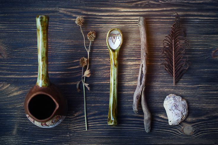 "Ceramic cezve & spoon ""the summer solstice"""