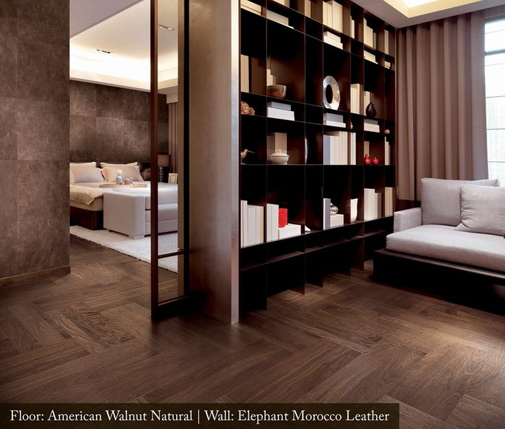 The American Walnut Natural creates incredible flow between these master suite areas.
