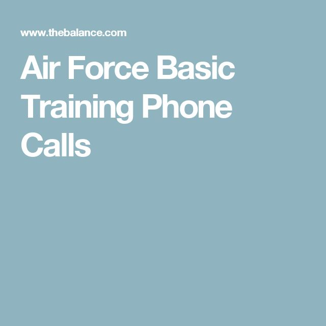 Air Force Basic Training Phone Calls