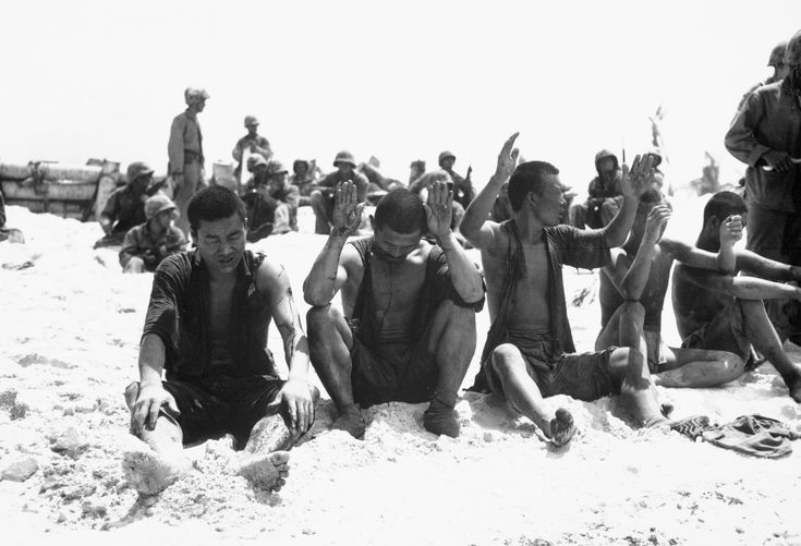 Japanese prisoners of war at Tarawa