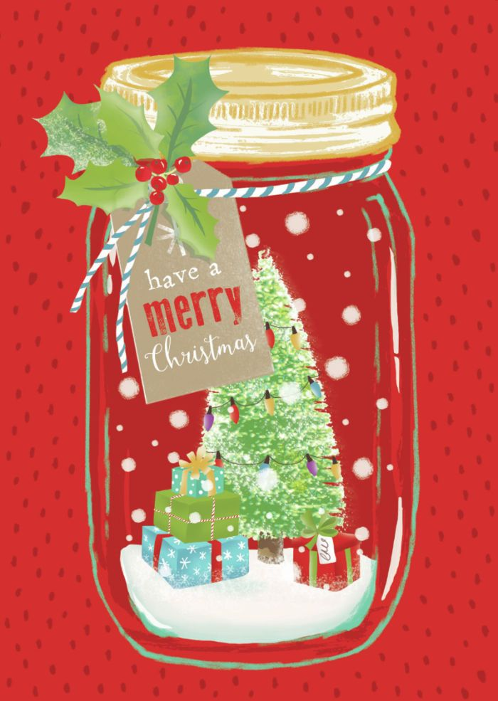 Claire Mcelfatrick - Christmas Snow Jar Tree And Presents