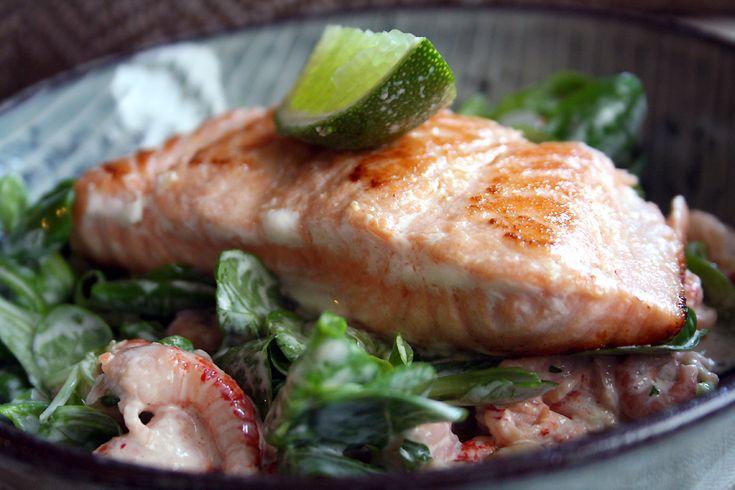 Culy homemade: salade met zalm, garnalen