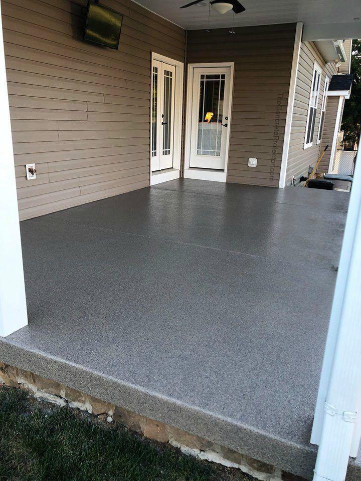 Graniflex Porch Tailored Concrete Coatings Front Royal Va Modern Design In 2020 Concrete Patio Makeover Concrete Coatings Patio Makeover