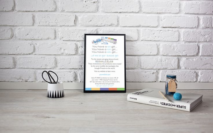 Rodan + Fields Marketing Flyer - Independent Consultant Business Branding & Marketing - RF Skincare Girl Flyer  now available