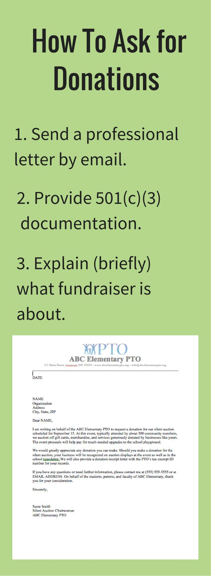 Sample Letter Asking For Donations This Article Provides Two