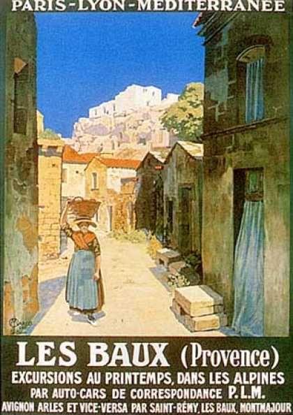 Vintage Travel Poster, Les Baux (Provence) by Jan MARCO (1922)