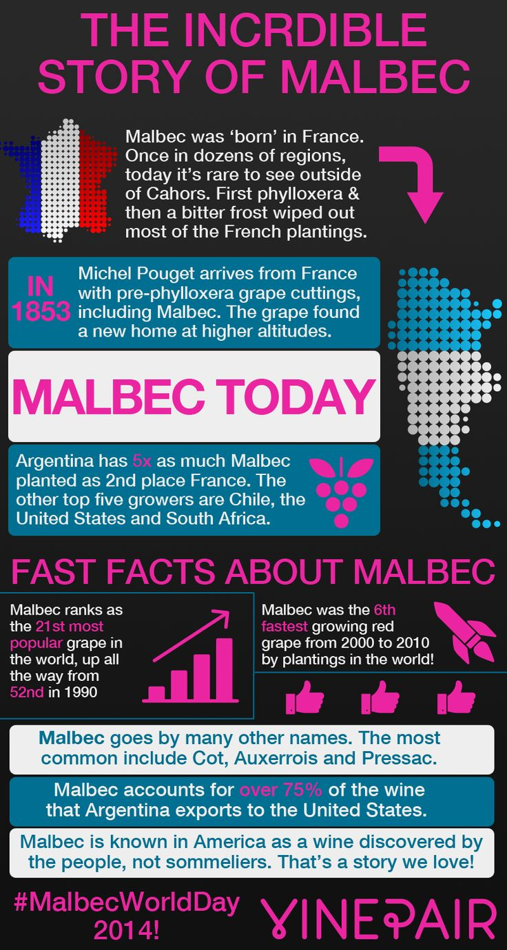 April 17th, 2014 is #MalbecWorldDay. We love the idea of wine themed holidays, so to celebrate we've put together an infographic summarizing the amazing growth of #Malbec.