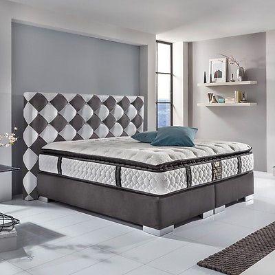 BLACK JACK DELUXE Boxspringbett Hotelbett Amerikanisches Bett - 200 x 200 cm Gr.