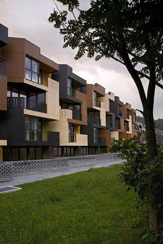 Tetris Apartments, Ljubljana, Slovenia by Ofis Arhitekti