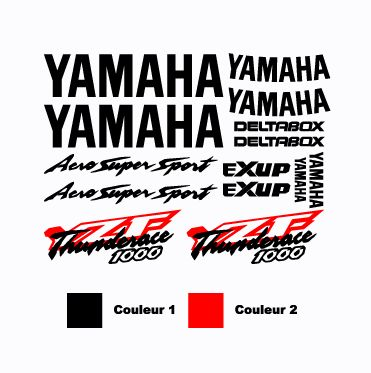 Kit Stickers Yamaha YZF Thunderace 1000 Aero Super Sport