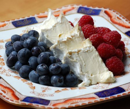 cheese. and berries
