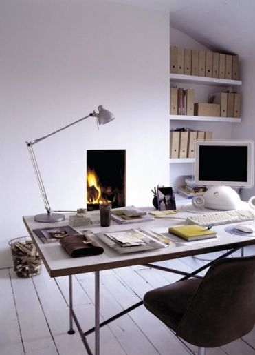 Nice PC desk: Offices Design, Offices Spaces, Fireplaces, Work Spaces, Workspaces, Desks, The Offices, Home Offices, Fire Places