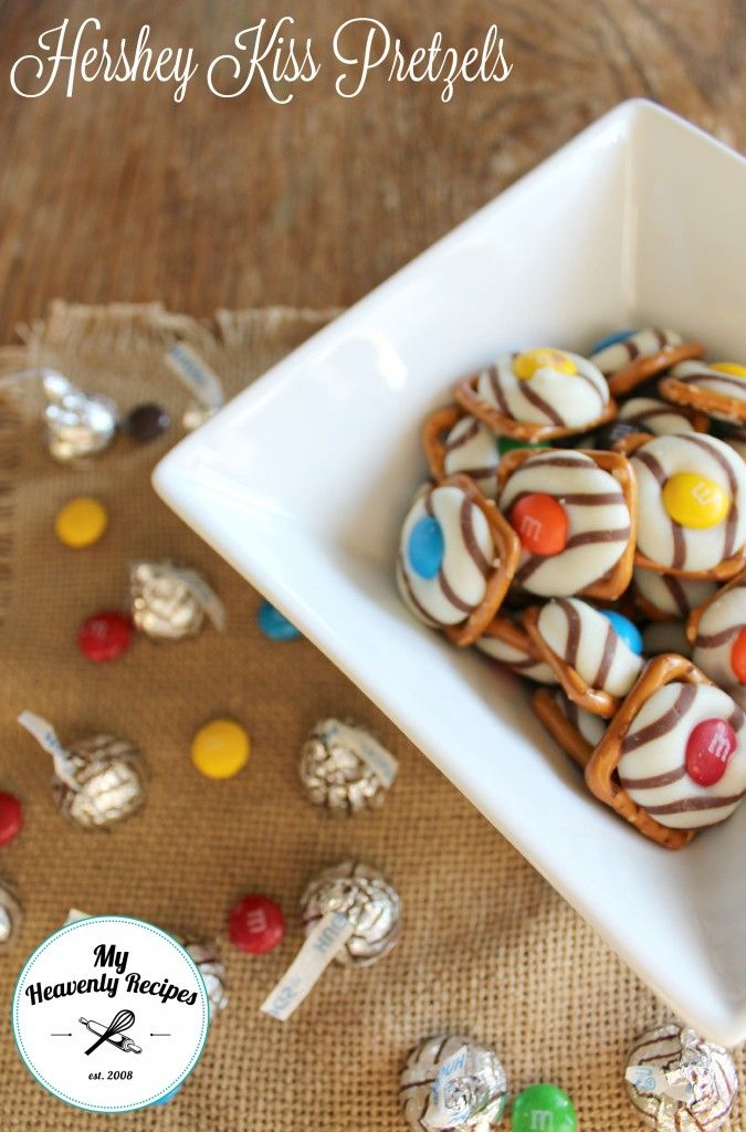 Hershey Kiss Pretzels - These things are so easy to put together my Husband and two girls completed it together!