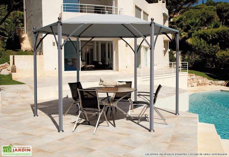 tonnelle hexagonale 3 50x3 50 neptune toile toile. Black Bedroom Furniture Sets. Home Design Ideas