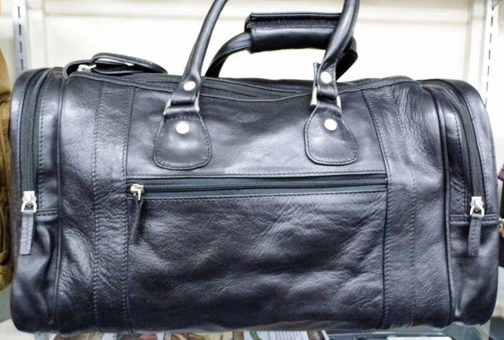 Black Leather Cabin Bag
