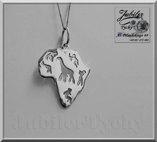 #Duży #Srebrny #Dwustronny #Wisiorek #Afryka – #Kontynent #Srebro #Ag925 #Silver #Jubiler #Tychy #Jeweller #Tyski #Złotnik #Zaprasza #Promocje : ➡ jubilertychy.pl/promocje 💎