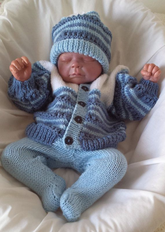 Baby Boys / Girls or Reborn Dolls Instant Digital Download PDF Knitting Patte...