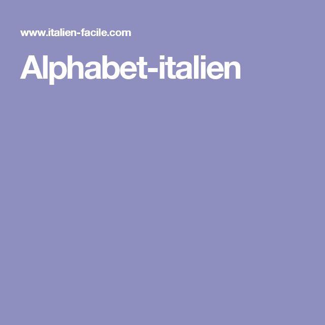 Alphabet-italien