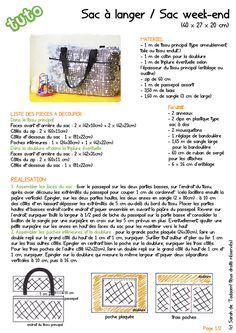 DIY / Tuto - Sac à langer ou sac week-end / Diaper bag, nursing bag or weekend bag tutorial