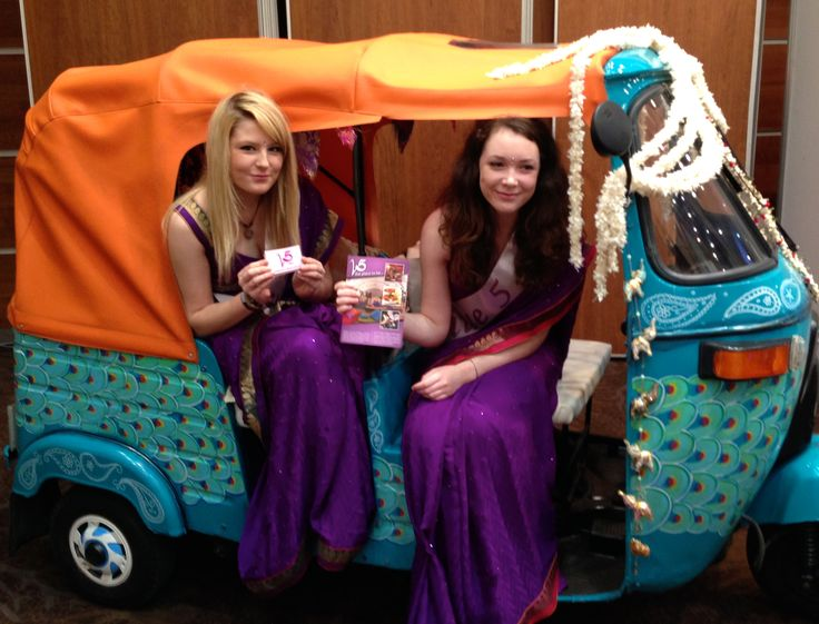 The promo girls from Venue 5 had a seat in the tuk tuk at the Asian Bride Wedding Exhibition.  Tuk tuks are available to hire from www.tukshop.biz.