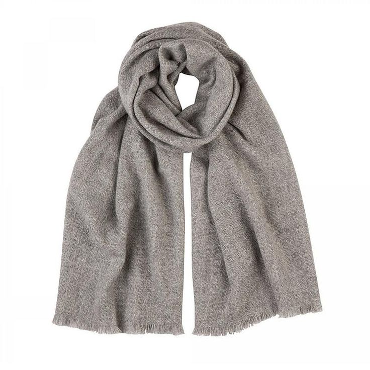 Cashmere Scarf in Pure Grey