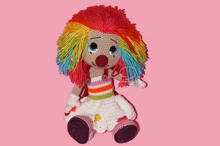 Amigurumi Clown / Girl based on Havva Ünlü's pattern