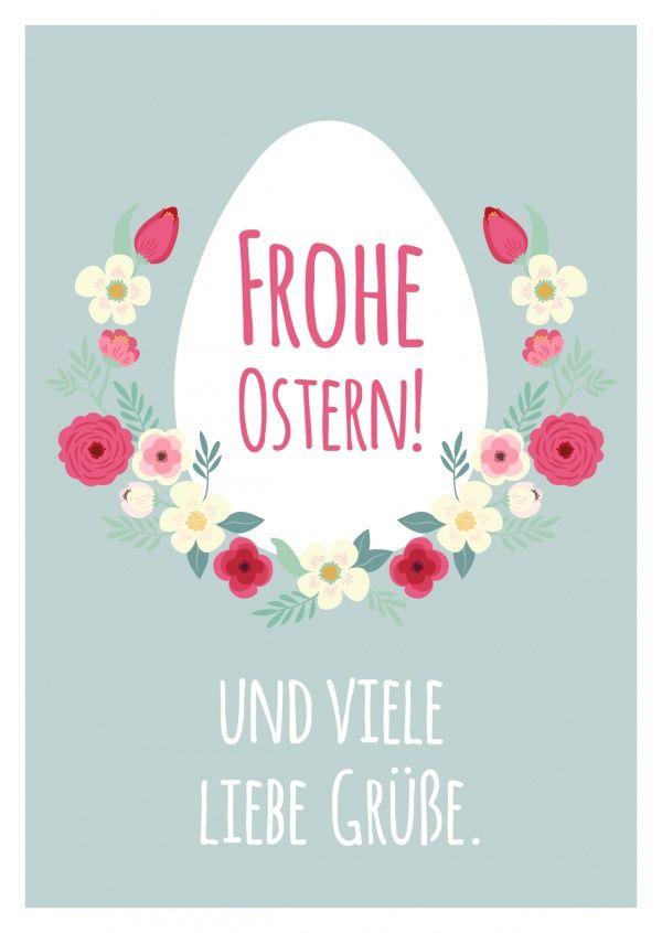 Frohe Ostern & viele liebe Grüße   Frohe Ostern   Echte Postkarten online…