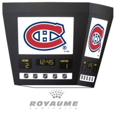 Suspendu carré du Canadiens de Montréal.