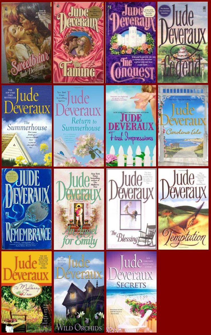 Jude Deveraux -love the way her books carry family lines thru the centuries.