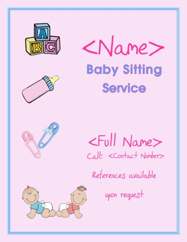 Babysitting Flyer Template Babysitting Flyer Template Babysitting