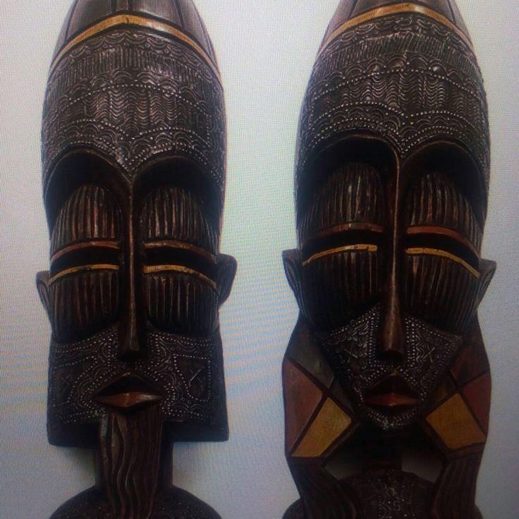 Ashanti Male and Female Mask